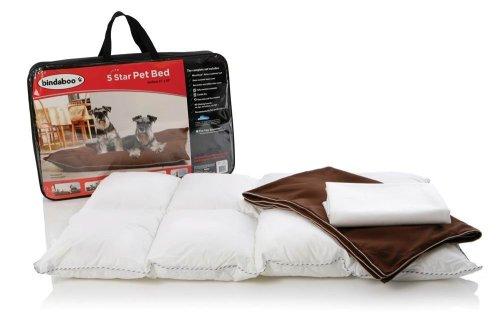 Bindaboo B2455 5 Star Pet Bed, Chocolate With Sandstone Trim, Medium front-557382