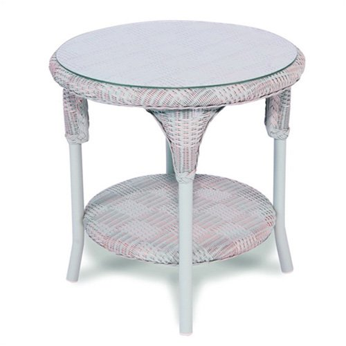 Calypso Round End Table Finish: Antique White
