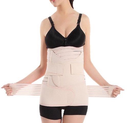 Billow Elastic Postpartum Pregnancy Belt Pregnancy Belt For Hips Waist Shaper Slimming Abdomen Support Girdle Belt Post Pregnancy Belly Band Abdominal Binder Belt For Women Maternity (3 In 1) (Xl)