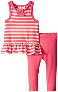 kate spade york Baby Girls Babies' Stripe Set, Bubble/Watermelon