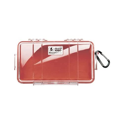ペリカン PELICAN 1060 N 小型防水ハードケース (レッド/クリア) 1060-028-100