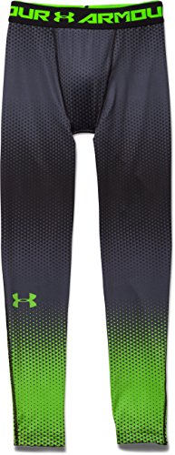 Under Armour EXO Compression Legging - Men's Black / Hyper Green Small