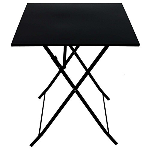 Metall-Klapptisch-60x60cm-Schwarz-Beistelltisch-Balkontisch-Gartentisch-Partytisch-Campingtisch-Mehrzwecktisch-Metalltisch-Balkonmbel-klappbar