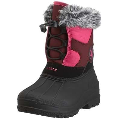 AIGLE ASKJA Kinder Schnee Stiefel gefüttert, Größe 27, rose/schwarz (noir rose)