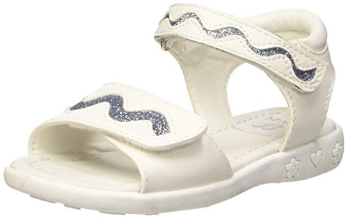Mini B 2611159 Sandali con Cinturino alla Caviglia, Bambine e Ragazze, Bianco, 28