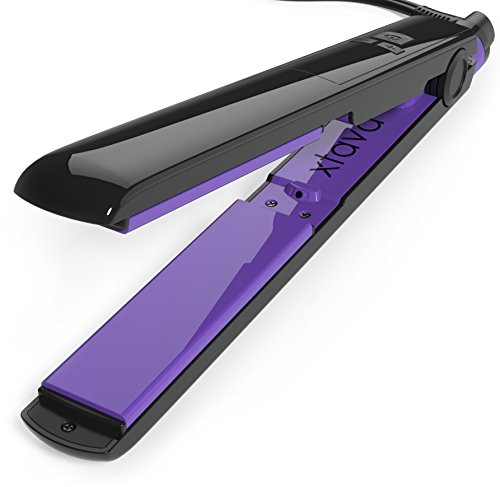 xtava Goddess Flat Iron with Ceramic Tourmaline Plates and LCD Display (Aurora) - Rapid-Heat Technology for Quick, Silky Strands (Infiniti Pro 1 Titanium Flat Iron compare prices)