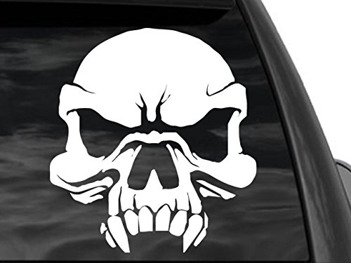 FGD Evil Fanged Skull Rear Window Decal 10.5