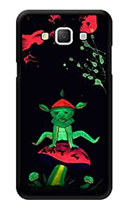 """Humor Gang Alien On Mushroom Neon Trippy Printed Designer Mobile Back Cover For """"Samsung Galaxy j7"""" (3D, Glossy, Premium Quality Snap On Case)"""