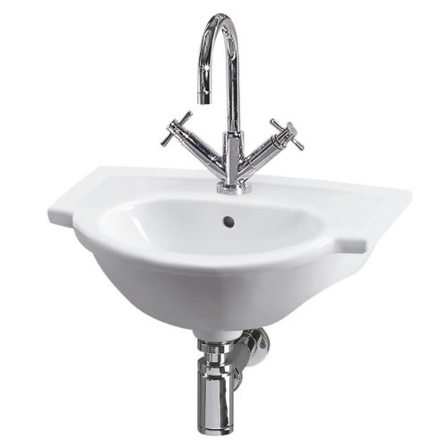 Kennington Modern Stylish Bathroom Cloakroom Ceramic Single Tap Hole Wall Mounted Basin Sink