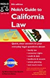 img - for Nolo's Guide to California Law book / textbook / text book