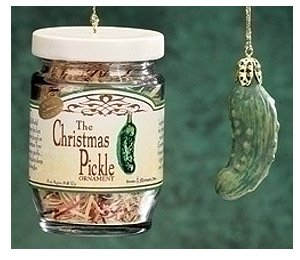 Pack of 6 The Famous German Christmas Pickle in Glass Jar Holiday Ornament Sets from Roman