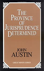 "Cover of ""The Province of Jurisprudence D..."