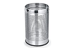 Melange Stainless Steel Perforated Dustbin ., 7 Ltr ., 8