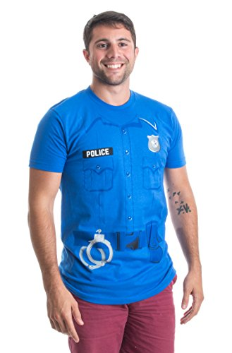 Police Costume Tee | Easy Halloween Costume Cop, Police Officer Unisex T-shirt