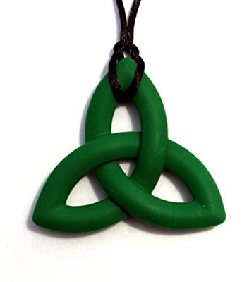 Peacemaker Jewelry Trinity Knot Silicone Teething Pendant Necklace from Peacemaker Jewelry, LLC