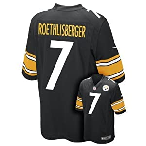 Nike NFL Pittsburgh Steelers Ben Roethlisberger Youth Replica Football Jersey - Black-L