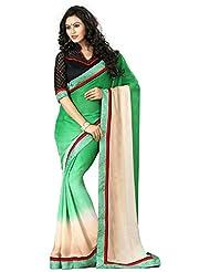 AG Lifestyle Women's Brocade Saree(DVY4007, Green)