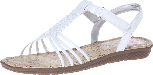 Toddler Girl White Sandals front-1050278