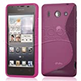 FUNDA GEL TPU ROSA HUAWEI ASCEND G510 / ORANGE DAYTONA MODELO S LINE