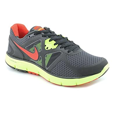 Nike Men's Lunarglide+ 3 Running Sneaker (10.5 M, Anthracite/Chilling Red-Black-Volt)