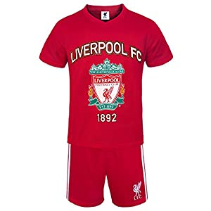 Liverpool FC Official Football Gift Boys Short Pyjamas Red 8-9 Years from Liverpool FC