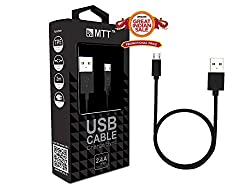 MTT® TPE Micro USB Cable - Fast Charging , Incredibly Durable and Premium Quality (1.2M, Black)