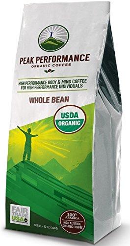 Peak Performance High Altitude Organic Coffee. No Pesticides, Fair Trade, GMO Free, And Beans Full Of Antioxidants! USDA Certified Organic Whole Bean Coffee (Gmo Free Coffee Beans compare prices)