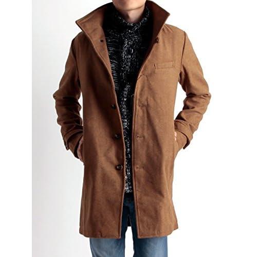 (ラフタス)Rafftas イタリアンカラー メルトン コート L サイズ キャメル 秋 冬 秋冬用 アウター ロングコート メンズコート