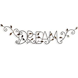 Dream Hanging Metal Wall Decor