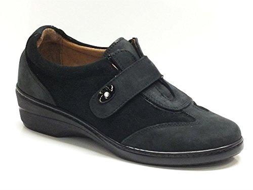 Sneakers Cinzia Soft per donna in camoscio nero (Taglia 40)