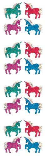 Jillson Roberts Prismatic Stickers, Mini Unicorns, 12-Sheet Count (S7023)