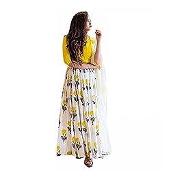 Sanjana yellow georgette designer collection bollywood style designer lehenga choli/heavy embroidered lehenga choli/partywear lehenga choli