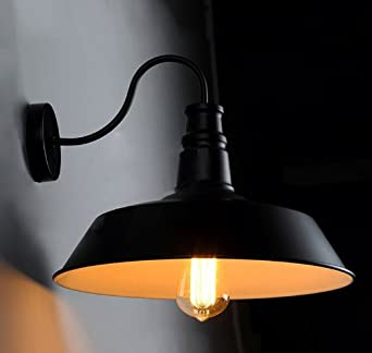 Metal Shaped Wall Lights : Black Metal Shape Diameter 36cm Vintage Industrial Retro Pendant Edison Light Wall Lamp lights ...