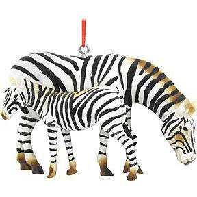 Zebra with Baby Ornament