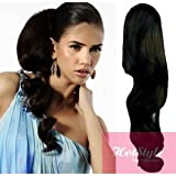 HOTstyle - Clip in human hair ponytail wrap hair extension 24