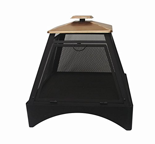 Asia Direct Catalina Creations Pagoda Style Outdoor Fireplace with Protective Cover