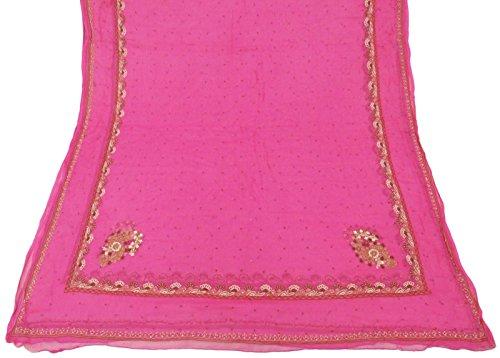 jahrgang-dupatta-langer-indischer-schal-reiner-chiffon-silk-gestickter-stoff-rosa-schleier