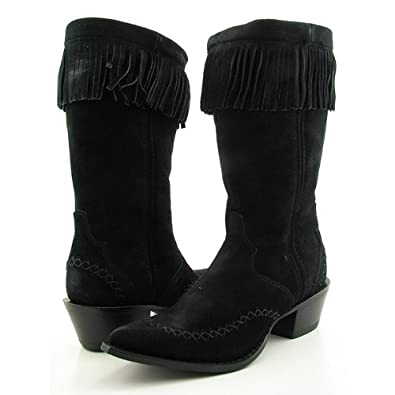 "DURANGO 3211 11"" FrgTriadBlk Boots Cowboy Shoes Black Womens"