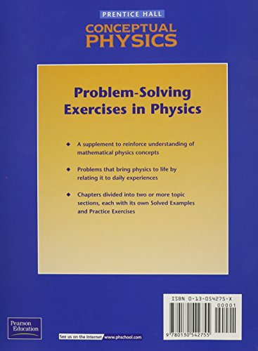 problem solving exercises in physics Simple exercise in physics, although the theory involved may seem elementary at first sight secondly, we discuss the solution to the problem following the recommendations of problem- solving research.