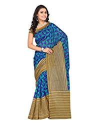 Vibes Fashionable Cotton Saree, With Blouse, Multi-Coloured, Free Size S24-8