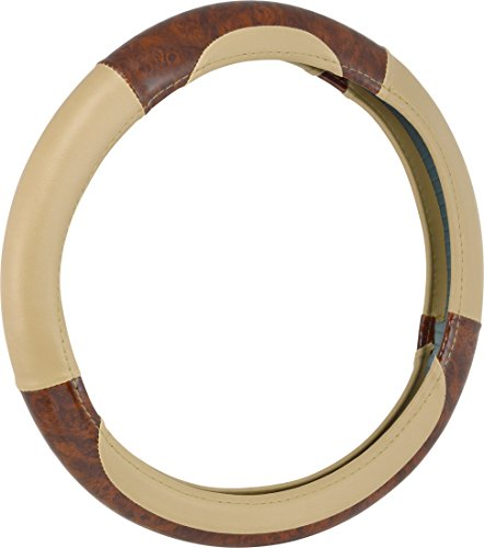 Bell Automotive 22-1-97006-9 Universal Deluxe Burl Wood Hyper-Flex Core Steering Wheel Cover, Tan (Steering Wheel Cover For Boys compare prices)