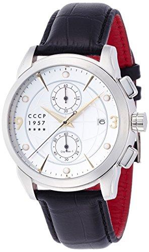 CCCP CP-7002-03 Mens Sputnik 1 Silver Black Chronograph Watch