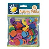 Craft Planet Crafty Foam Numbers (8 Sets) - Assorted Colours
