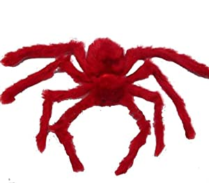 1 Red Plush Spider Red EYE Halloween Haunted House Prop Decor Toy Accessory from yoyostore2013
