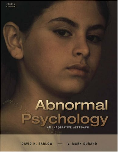 Cengage Advantage Books: Abnormal Psychology: An Integrative Approach (with CD-ROM and InfoTrac)