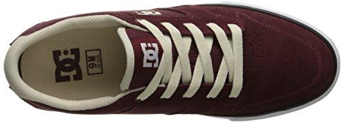 DC Men's Argosy Vulc Skate Shoe, Burgundy, 9 M US