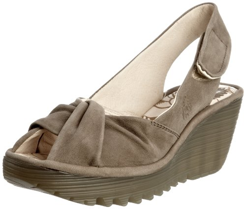 Fly London Women's Yakin Khaki Cupido Wedge Heels P500124038 5 UK