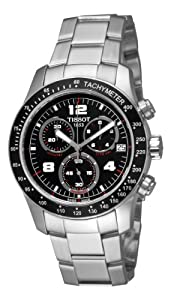 Tissot Men's T0394171105702 Tissot V8 Black Chronograph Dial Watch