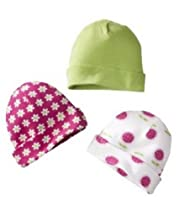 Gerber Baby 3 Pack Cap Set - 0-6M (Girls)