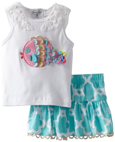 Mud Pie Baby-Girls Newborn Under The Sea Skirt Set, Multi, 12-18 Months front-567397